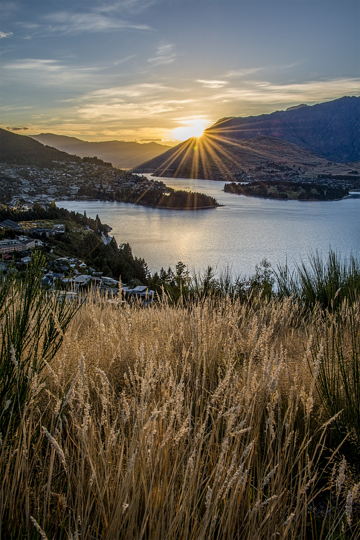 Sun Rise over The Remarkables in Queenstown New Zealand