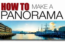 How to make a panoramic photo