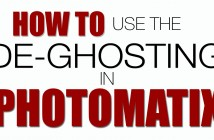 How to de-ghost in Photomatix