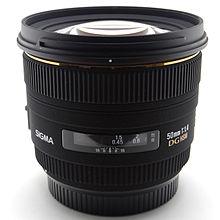 2.Sigma 50mm f/1.4 EX DG HSM