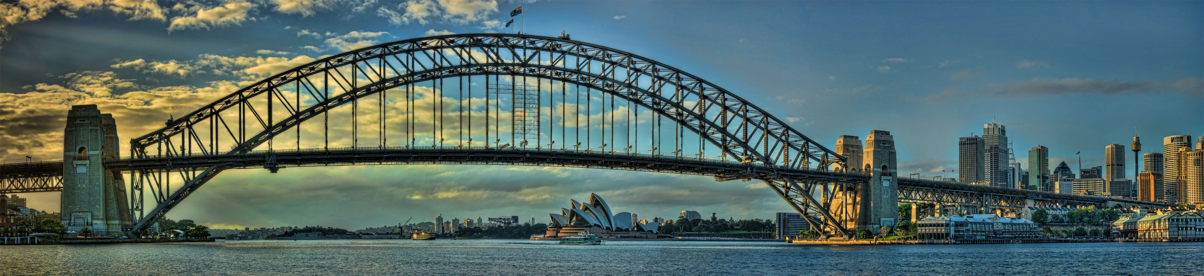 Sydney Harbour Bridge Panoramic in HDR
