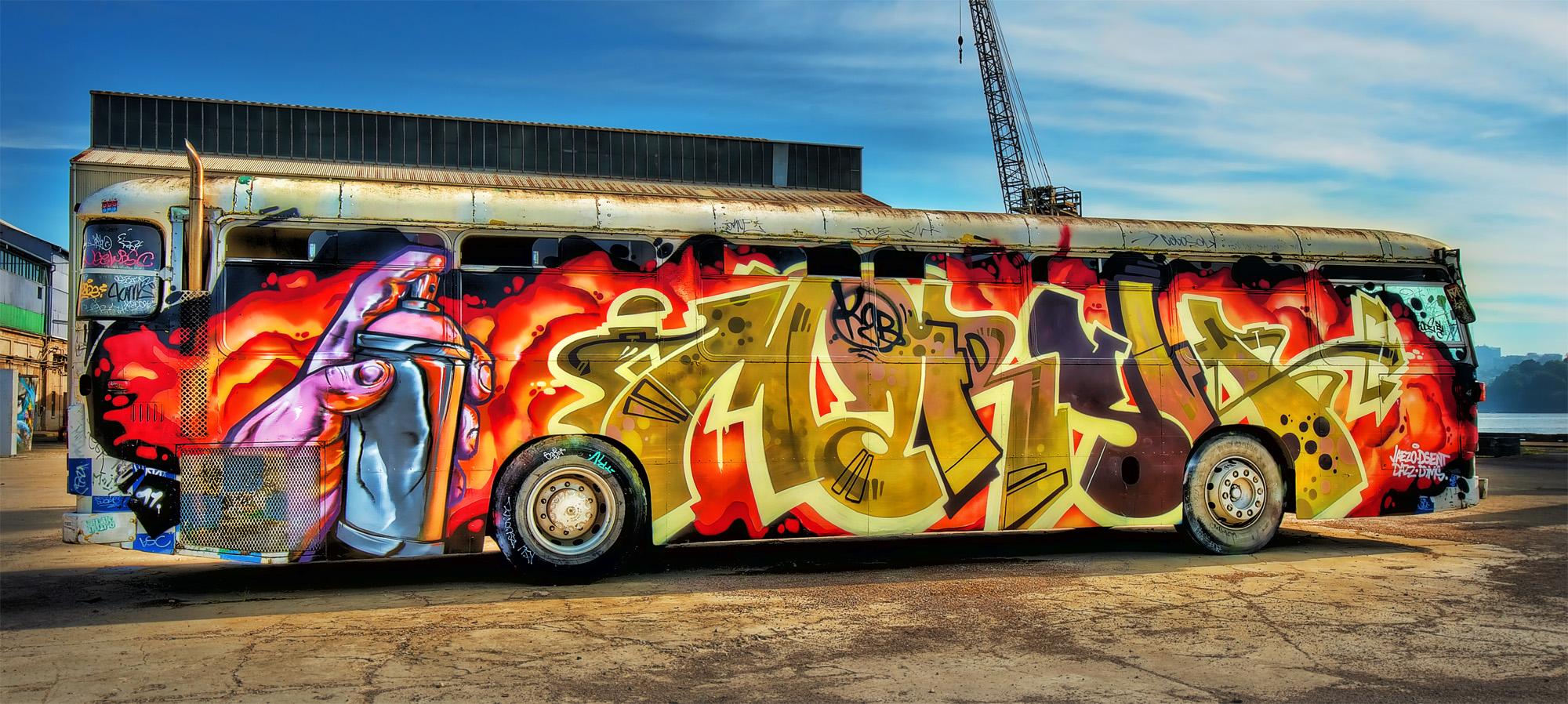 Graffiti Art Bus