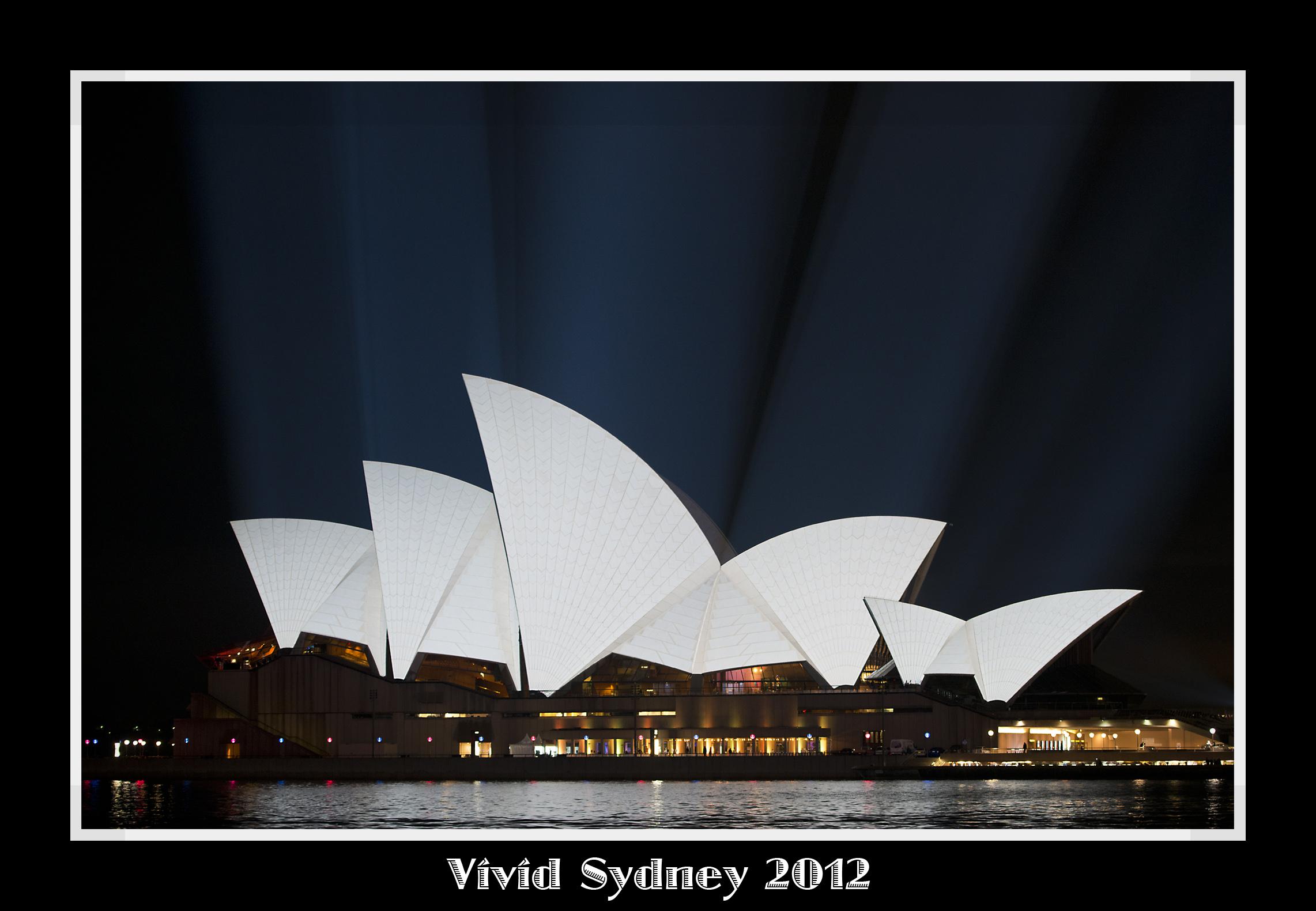 Sydney Vivid Opera Framed