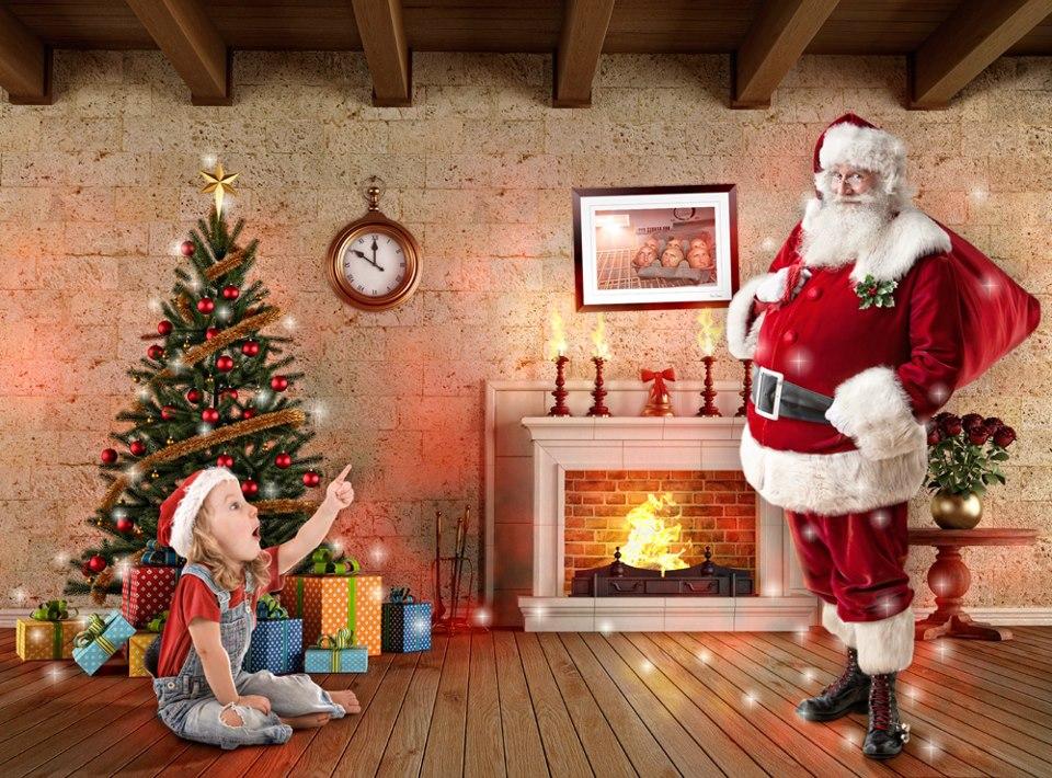 Surprised to see Santa!