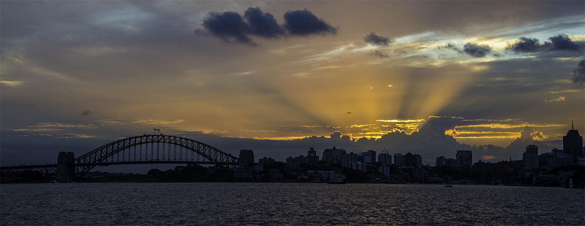 Clear to Land | Sydney Harbour Sunset