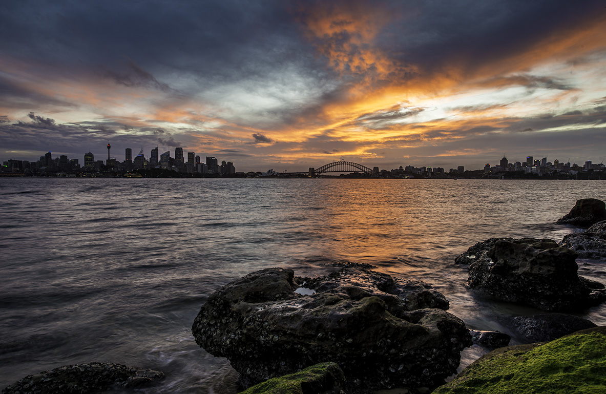 Fire in the Sky Sydney Australia Sunset