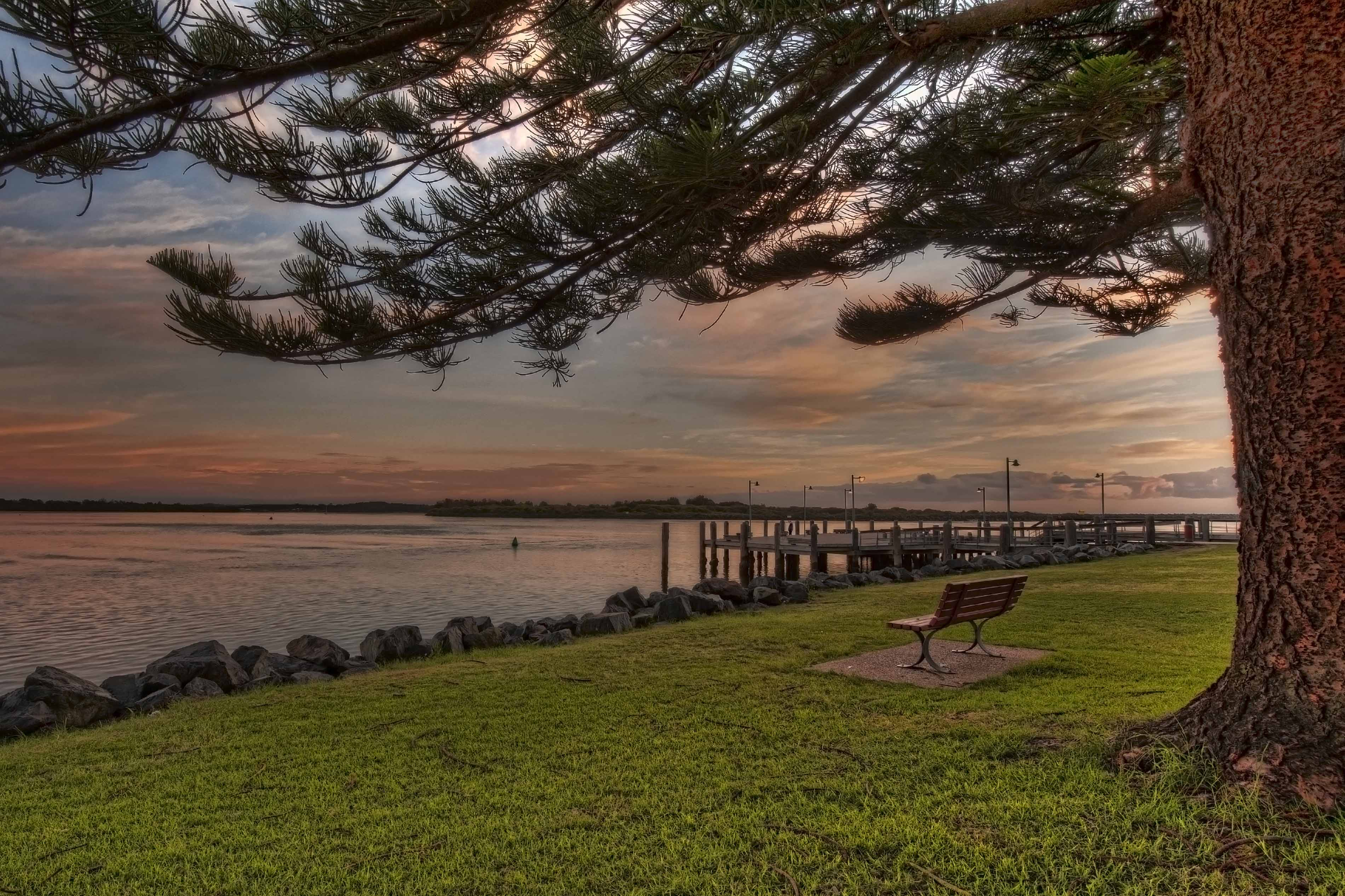 Sunrise seat in Port Macquarie HDR Photo