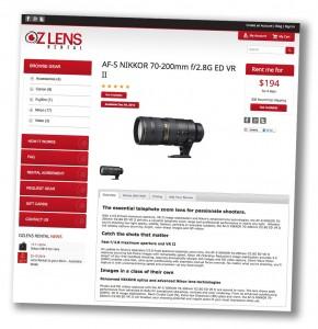 Lens Rental Australia