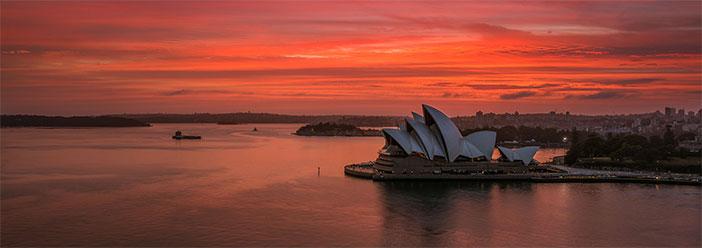 Sunrise Panoramic over the Opera House