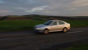 car moving blur