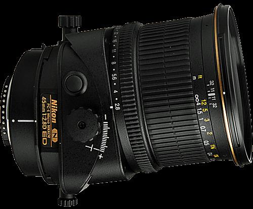 Nikon 45mm PCE Tilt Shift Lens